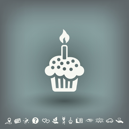 Pictograph of cake. Vector concept illustration for design. Eps 10