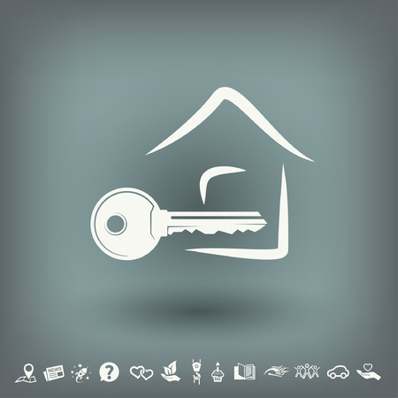 10 key: Pictograph of key. Vector concept illustration for design. Eps 10