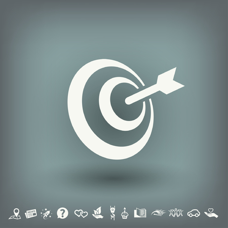 dartboard: Pictograph of target. Vector concept illustration for design. Eps 10