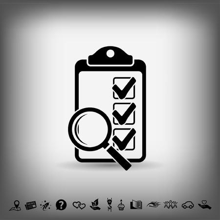 Pictograph of checklist Illustration