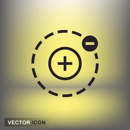 Pictograph of atom. Vector concept illustration for design. Eps 10 Illustration