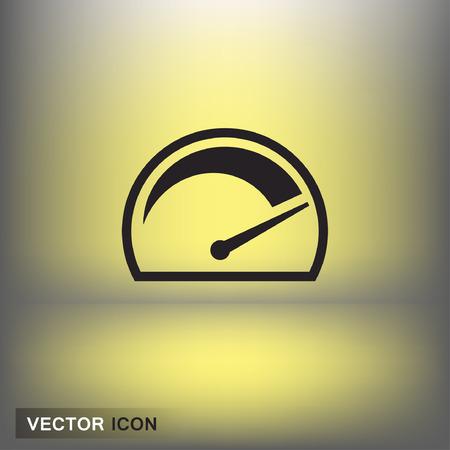 Pictograph of speedometer