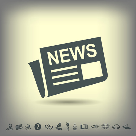 article icon: News icon. Vector concept illustration for design. Eps 10