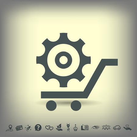 mechanism of progress: Pictograph of gear