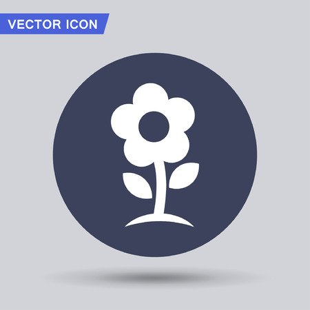 Pictograph of flower Illustration