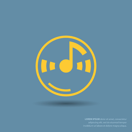 Pictograph of music note Illustration