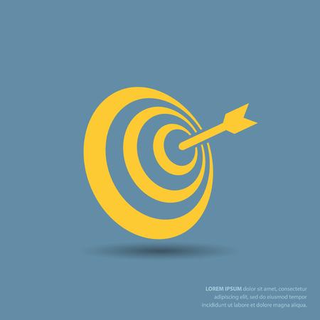 dartboard: Pictograph of target Illustration