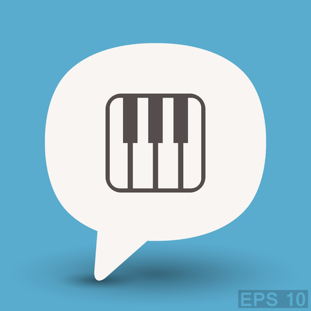 Pictograph of music keyboard Illustration