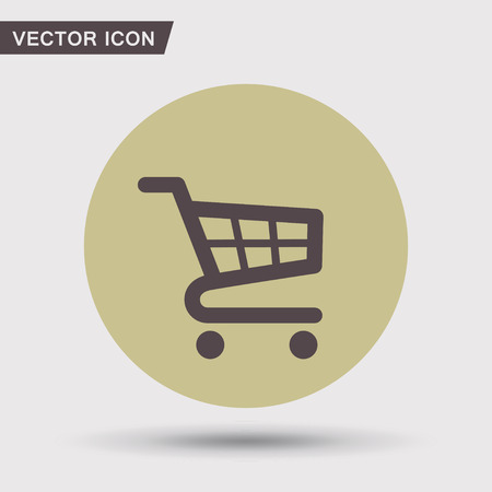 shopping cart: Pictograph of shopping cart Illustration
