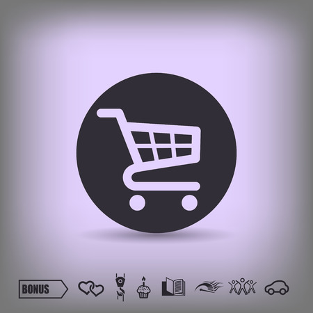 shopping cart: Pictograph of shopping cart Stock Photo