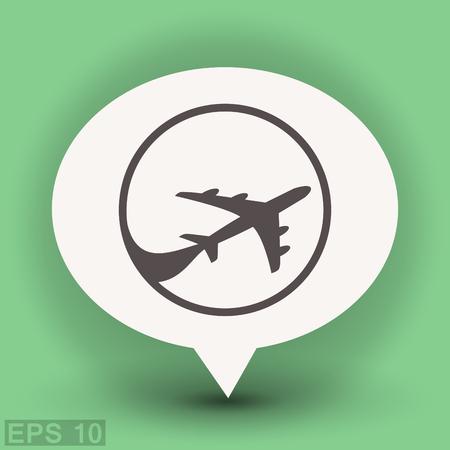 turbine engine: Pictograph of airplane