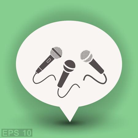 icon: Microphone icon Illustration