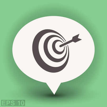 Pictograph of target Illustration