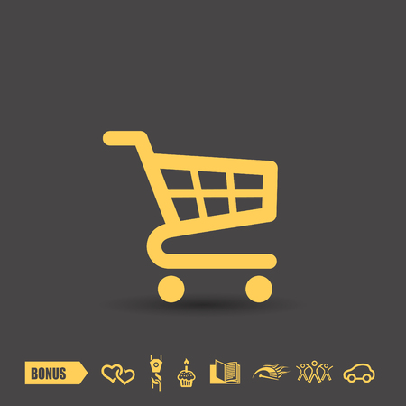 Pictograph of shopping cart 矢量图像