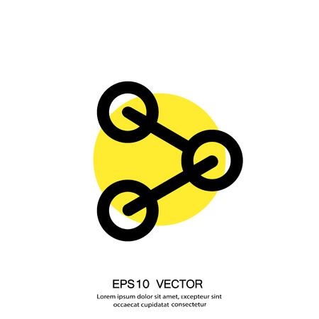 Pictograph of share. Vector concept illustration for design. Eps 10 Illustration