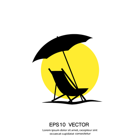 Pictograph of summer vacation. Vector concept illustration for design. Eps 10