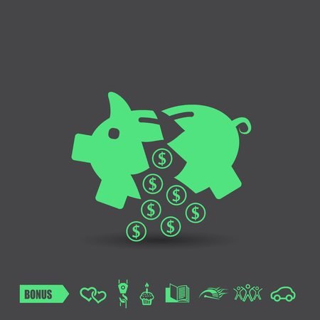 investor: Pictograph of moneybox. Vector concept illustration for design. Illustration