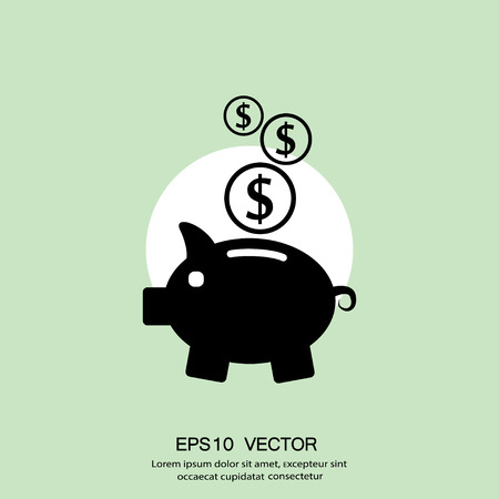 investor: Pictograph of moneybox. Vector concept illustration for design. Eps 10