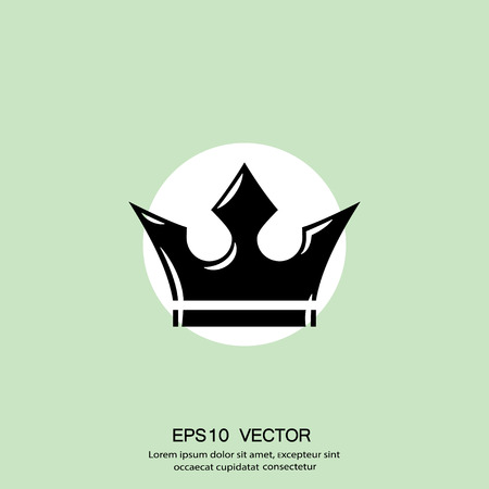 Pictograph of crown. Vector concept illustration for design. Eps 10 Illustration