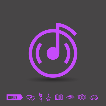 cd label: Pictograph of music note.