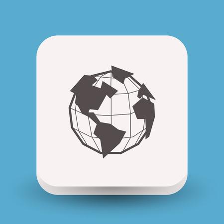 Pictograph of globe Stock Illustratie
