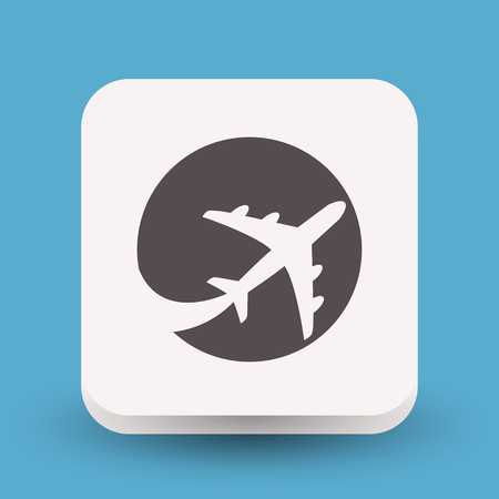 Pictograph of airplane