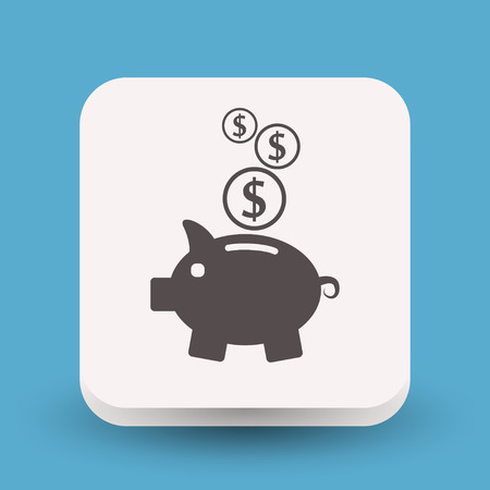 investor: Pictograph of moneybox