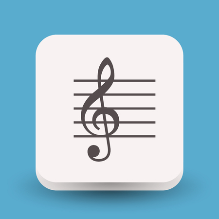 Pictograph of music key