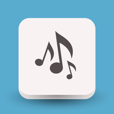 Pictograph of music note Stock Illustratie