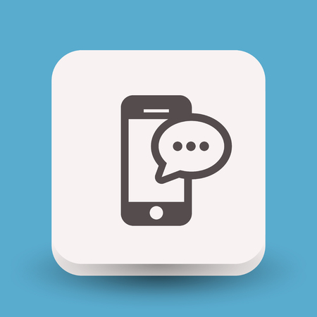 Pictograph of message or chat on smartphone