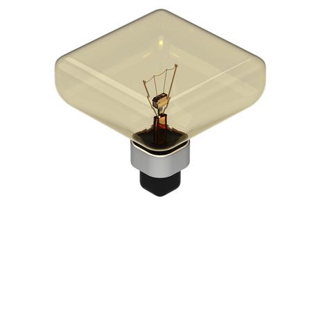Yellow Bulb Icon Isolated on White photo