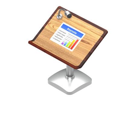 keynote: Keynote icono aislado en blanco Foto de archivo