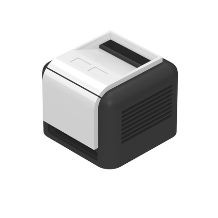 Nice Printer Icon Isolated on White