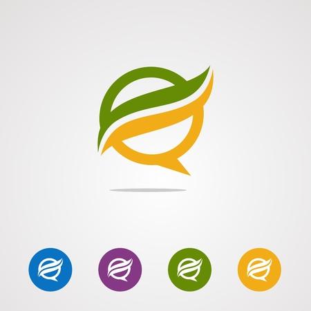 vecteur, icône, élément et modèle de logo d'onde de chat pour les entreprises