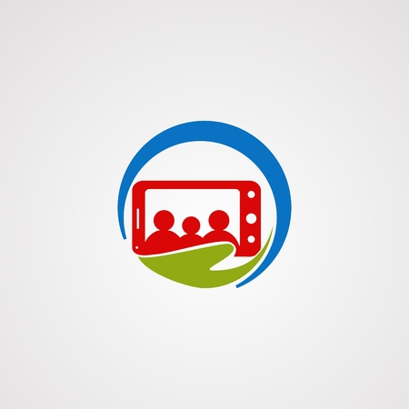 family mobile care logo vector, icon, element, and template for company