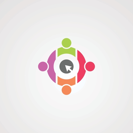 social click logo vector, icon, element, and template for company Illustration