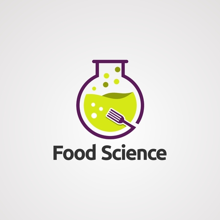 food science lab logo vector, icon, element, and template for company Vettoriali