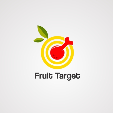 fruit target logo vector, icon, element, and template for business