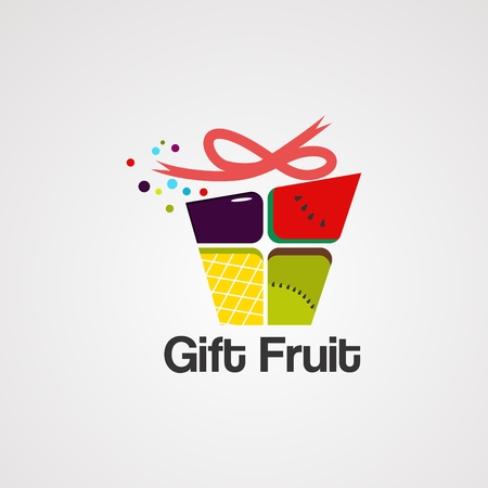 gift fruit logo vector,icon, element, and template for company