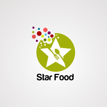 star food logo vector, icon, element, and template for company Illustration
