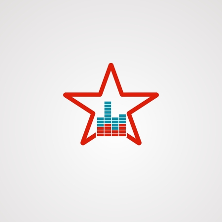sound star logo vector, icon, element, and template for company