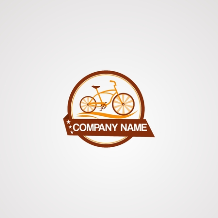 badge bike logo vector, icon, element, and template for company