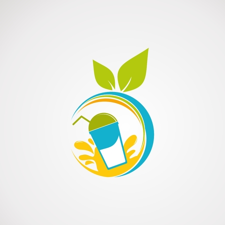 fresh juice logo vector, icon, element, and template Logo