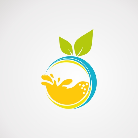 fresh juice logo vector, with fresh orange concept,icon, element, and template for company