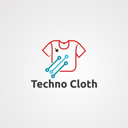 techno cloth logo vector, icon, element, and template for company
