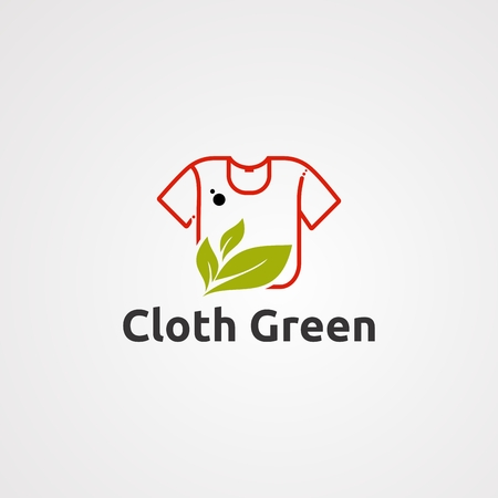 cloth green logo vector, icon, element, and template for business
