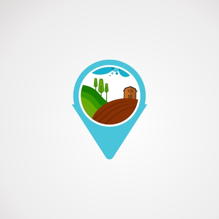 farm point logo vector, icon, element, and template for company Illustration