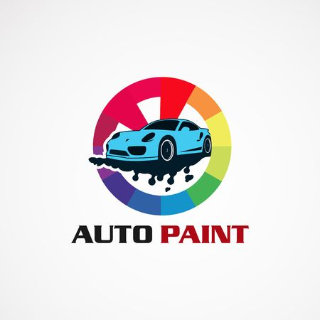 auto paint service car logo vector, icon, element, and template for company