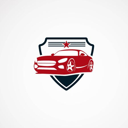secure car logo designs concept with star for company Reklamní fotografie - 124705146