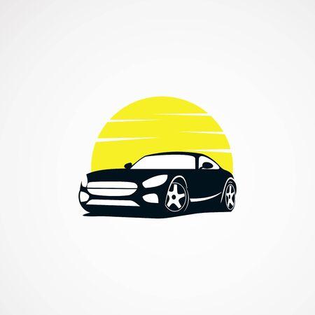 car sun logo designs simple concept, icon, template for business
